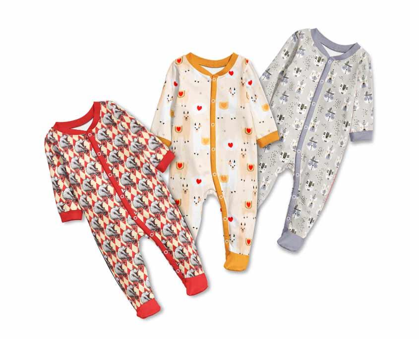 Druk na tkaninach dziecięcych
