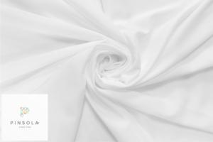 Tkanina silki biała