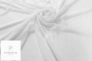 Tkanina szyfon - biała