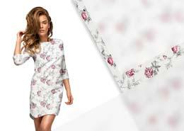tkanina na sukienki w kwiaty