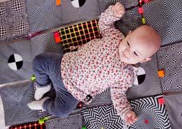 interlock -dzianina na body dla niemowlaków