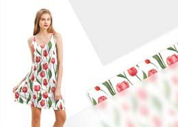 Letnia sukienka w tulipany