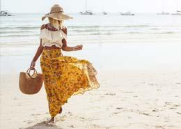 sukienka plażowa z szyfonu